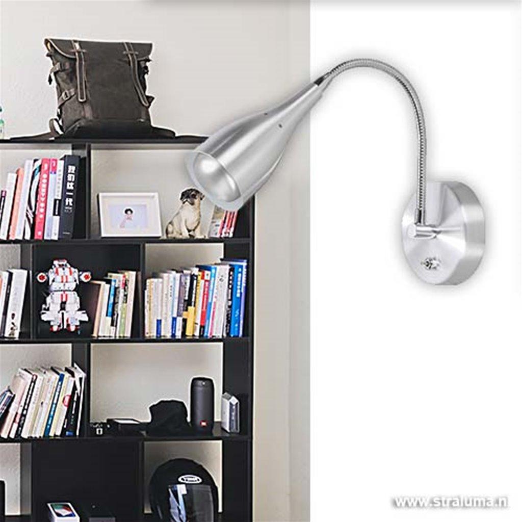 Wandlamp Elite aluminium strak modern