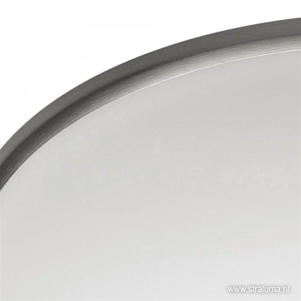 Plafonnière Art nikkel/wit 30cm