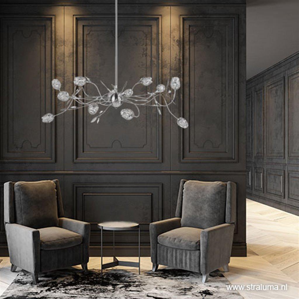 Romantische hanglamp Toscane nikkel