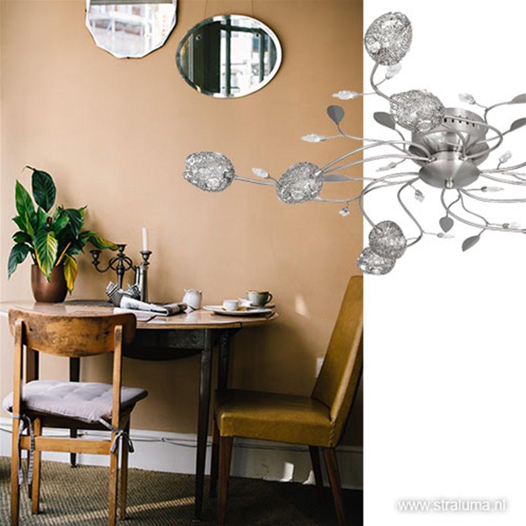 Plafonnière Toscane nikkel romantische