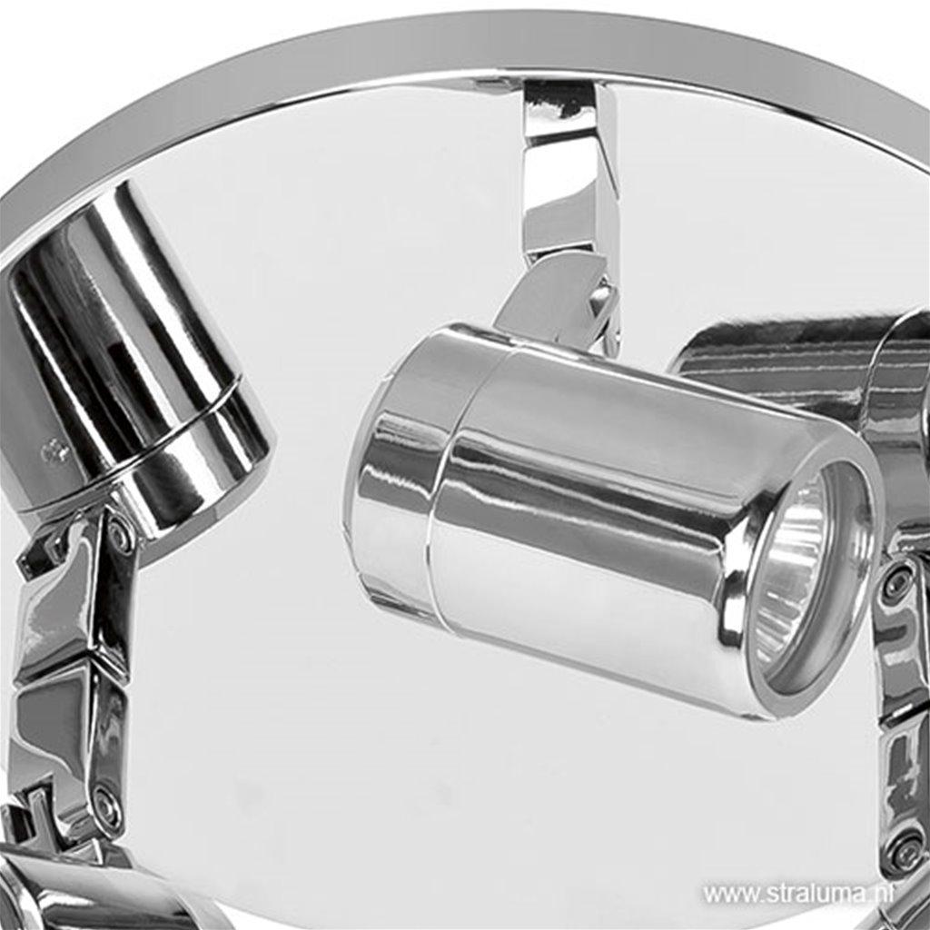 Opbouwspot 3-lichts chroom badkamer IP44