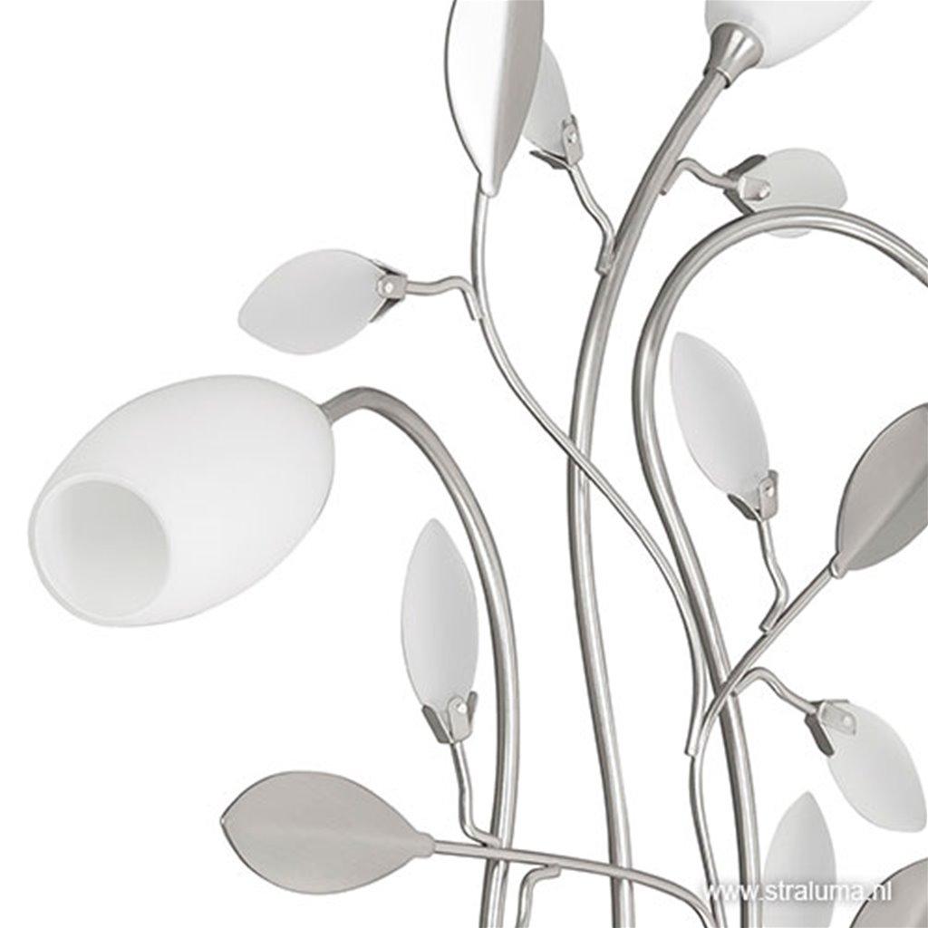**Wandlamp Grosseto romantisch glas wit