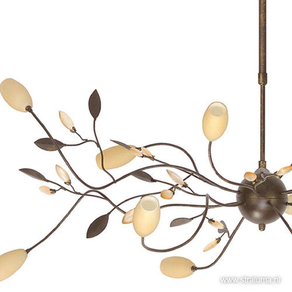Klassieke hanglamp Grosseto roestbruin