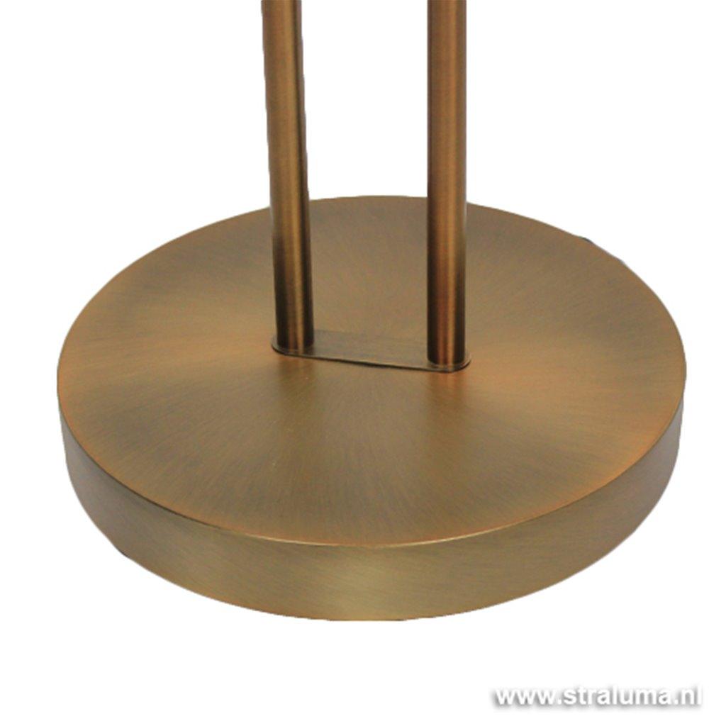 Uplighter brons LED Luna leesarm, dimmer