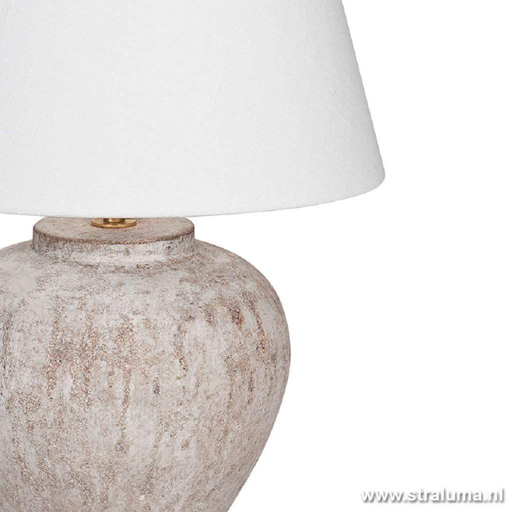 Tafellamp romantisch keramiek creme
