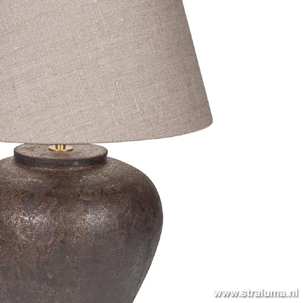 Tafellamp vaas 53cm bruin/taupe