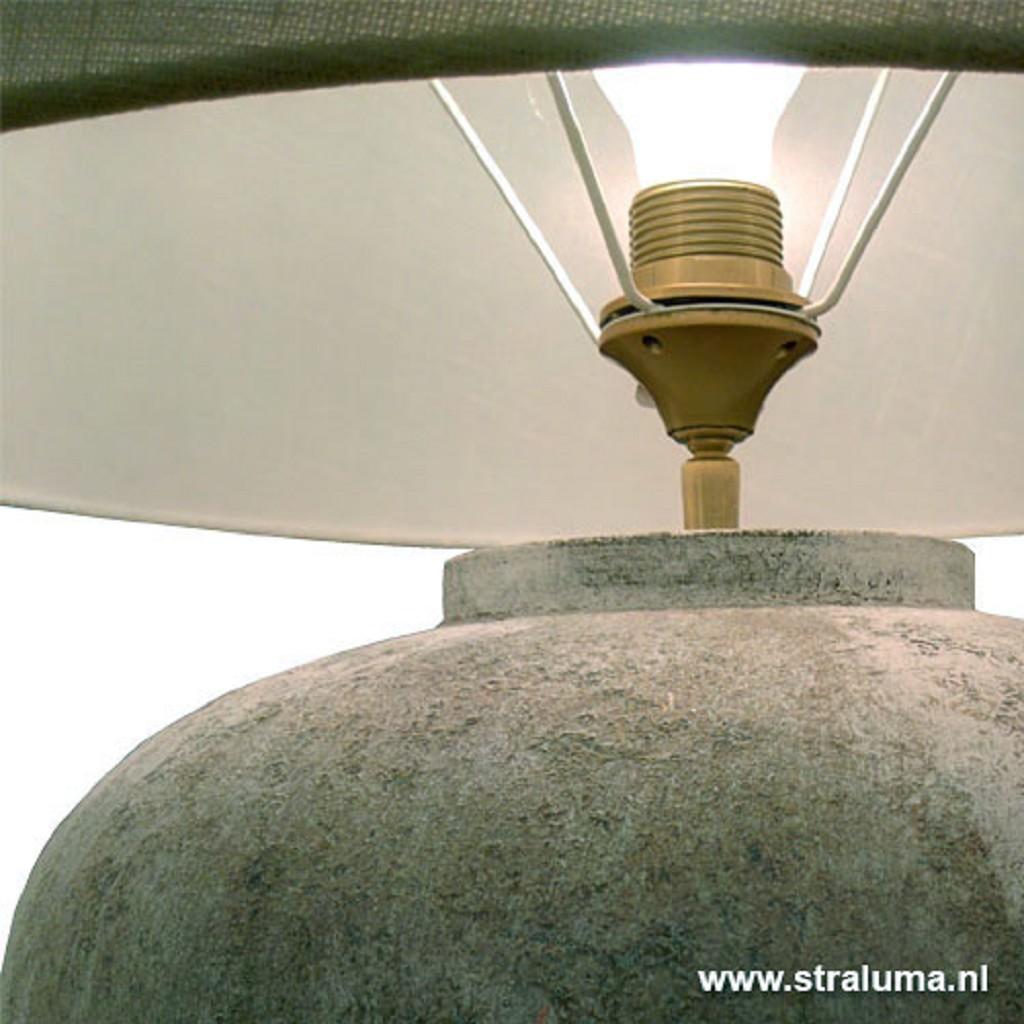 Landelijke vaaslamp-schemerlamp + kap