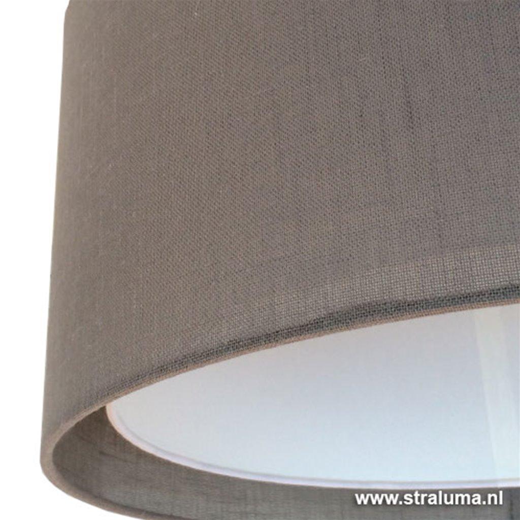 **Moderne dimb. staande lamp + stof kap