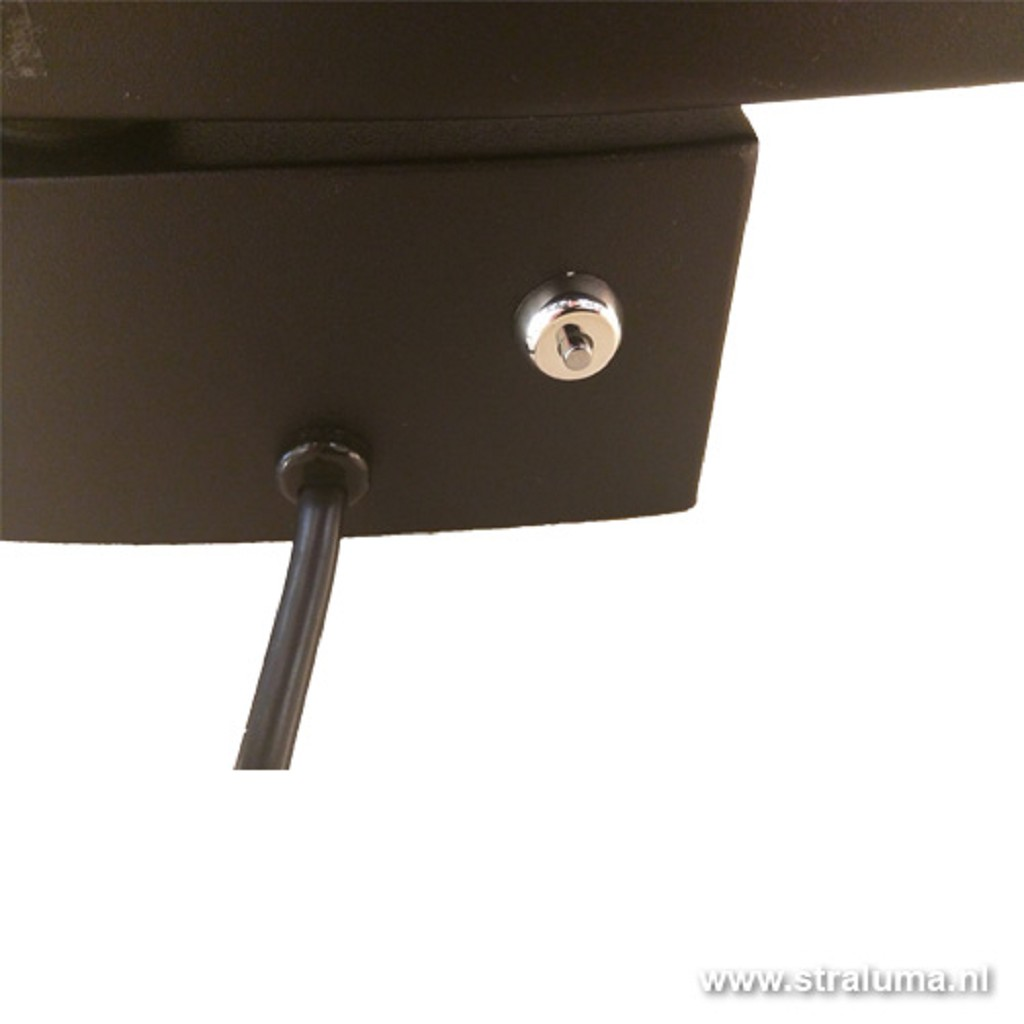 *Moderne wandlamp zwart LED uplighter