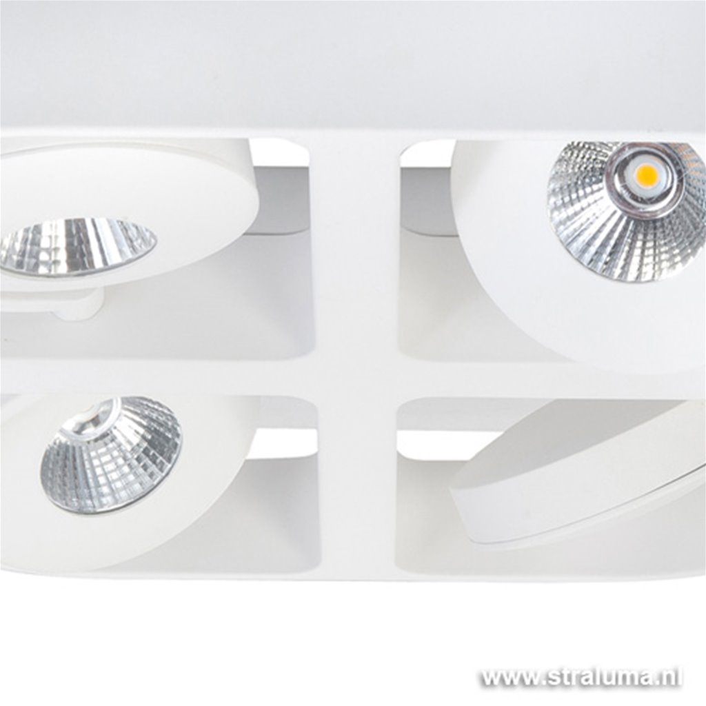 Moderne design LED spot wit verstelb.