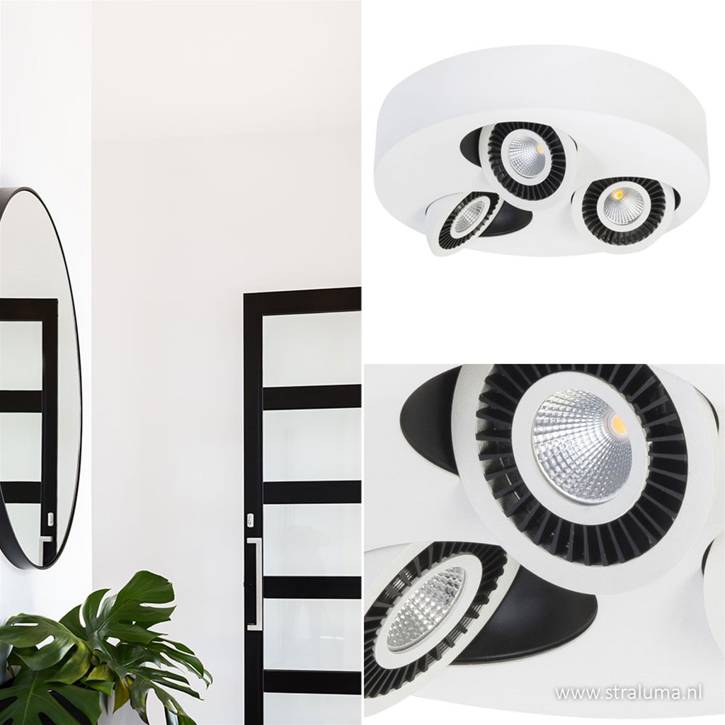 LED plafondlamp Eye spot wit verstelb.