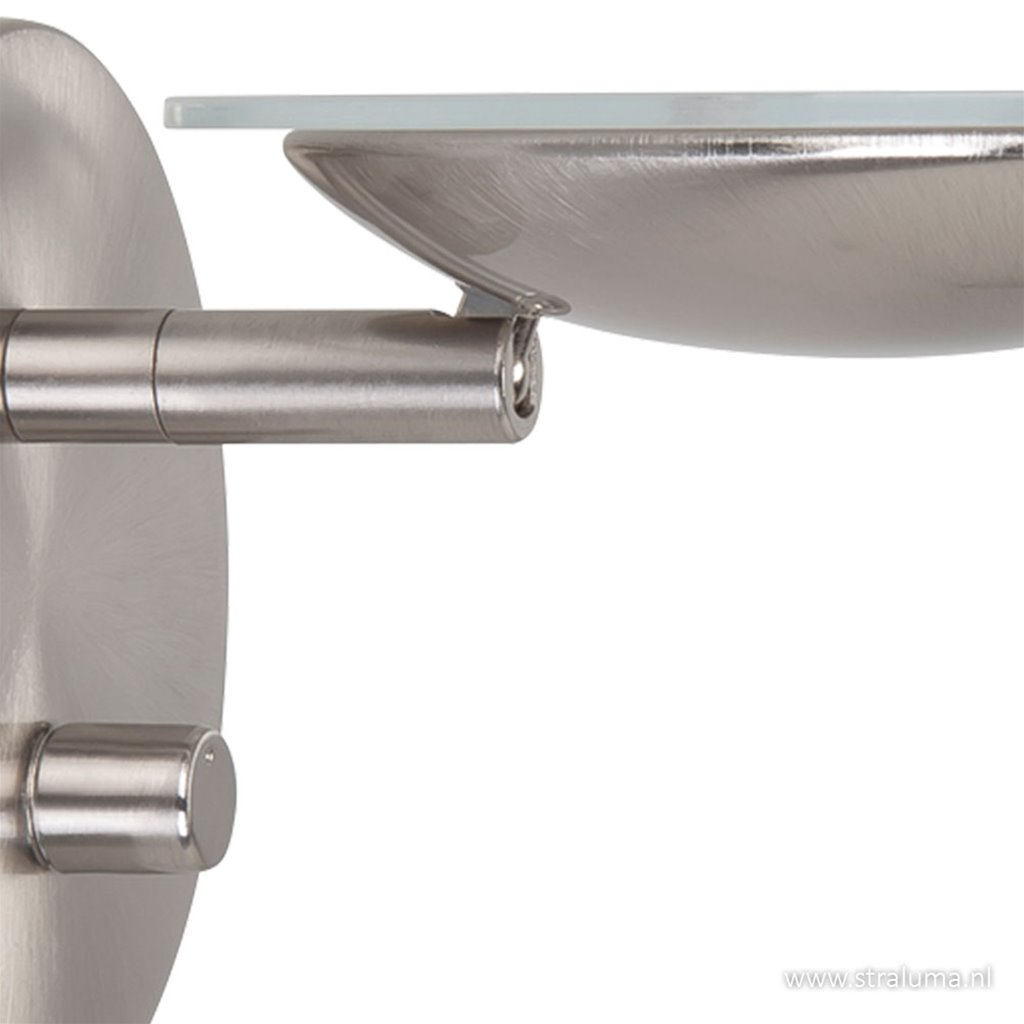 LED Wandlamp dimbaar staal verstelbaar