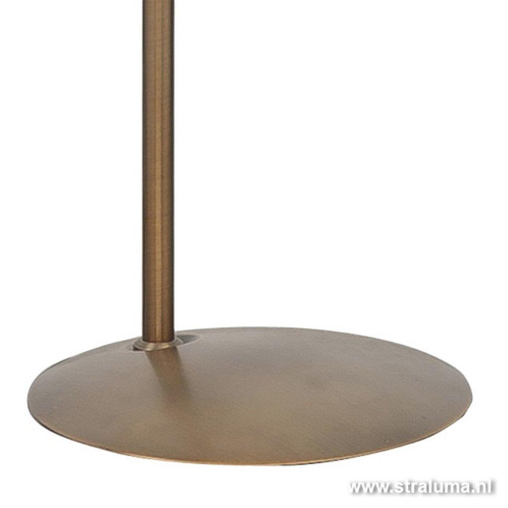 Klassieke Staande lamp LED brons dimb.