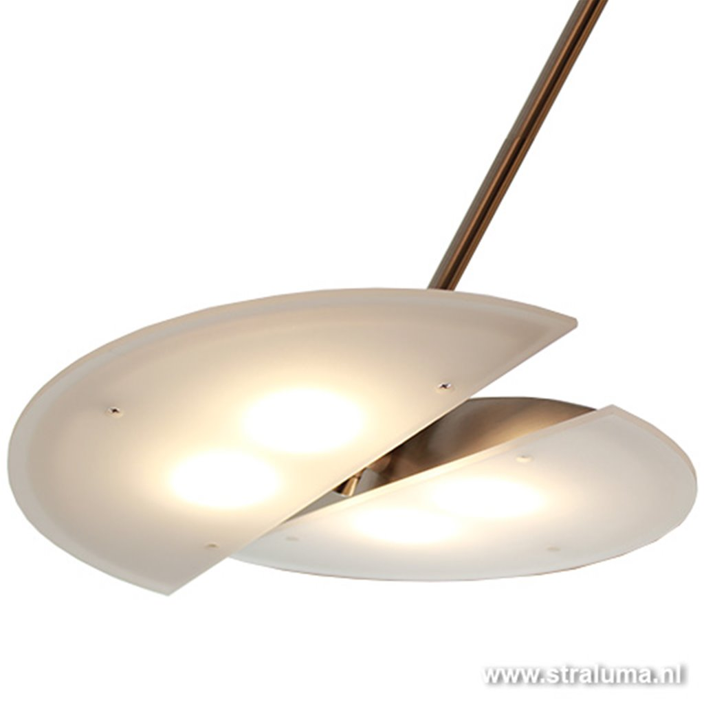 Moderne hanglamp Sapporo nikkel LED