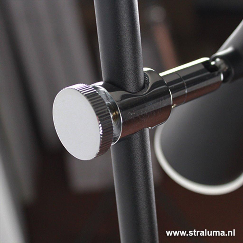LED leeslamp zwart verstelbare spots