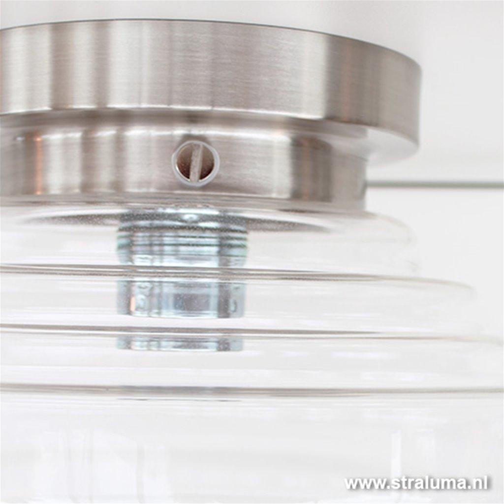 Glazen art deco Plafonniere keuken-hal