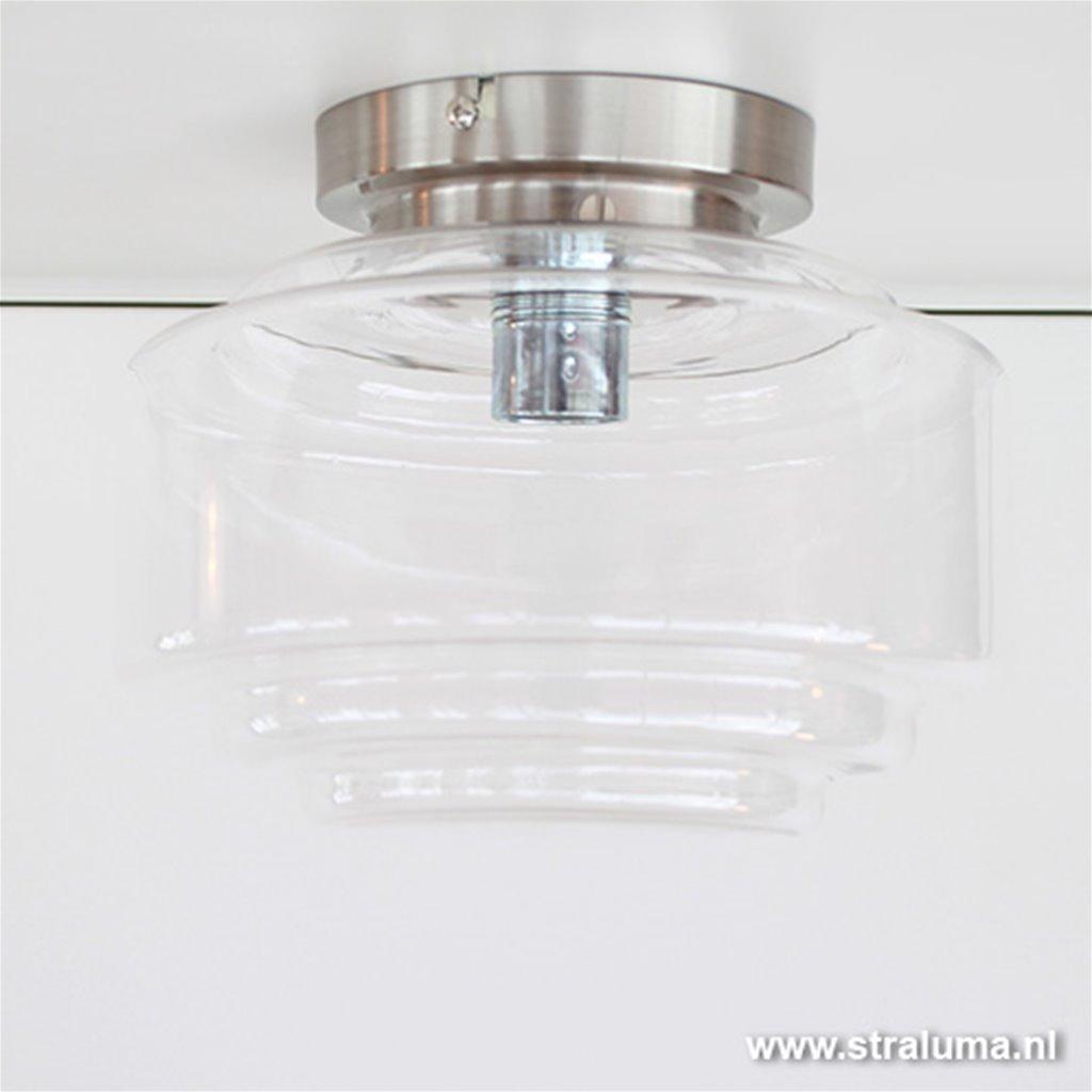 Glazen Plafonniere Art Deco hal-wc-kamer