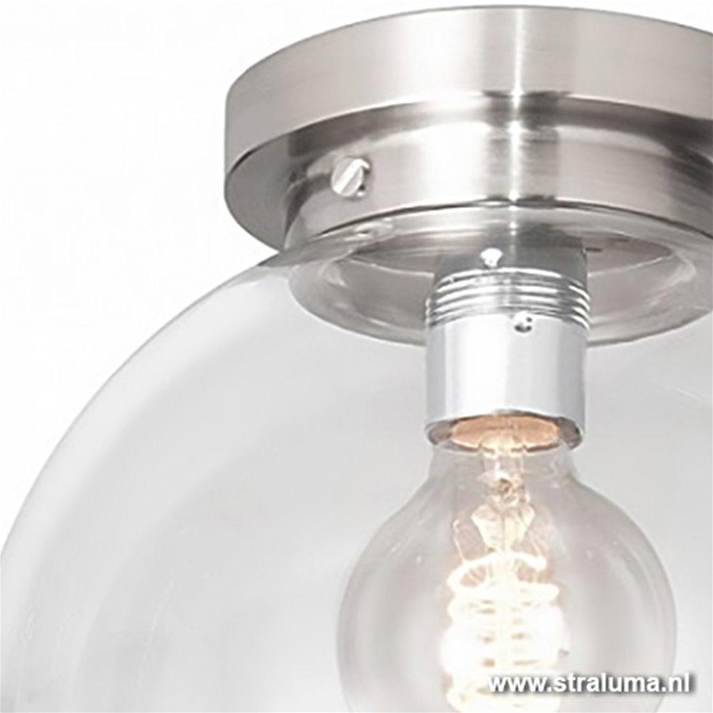 Moderne glazen plafonniere bol hal-wc