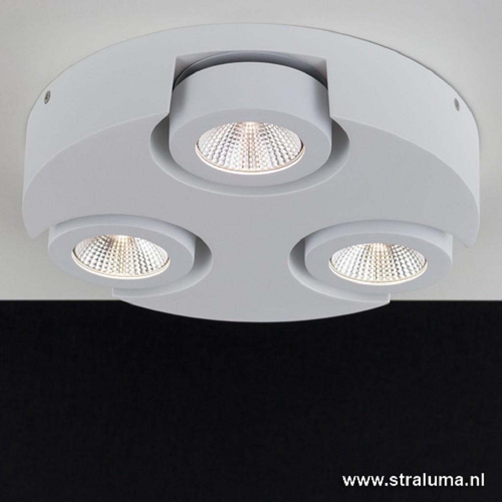 Witte design plafondlamp Montreal LED