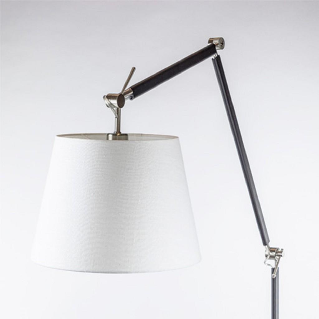 Moderne staande lamp staal met zwart