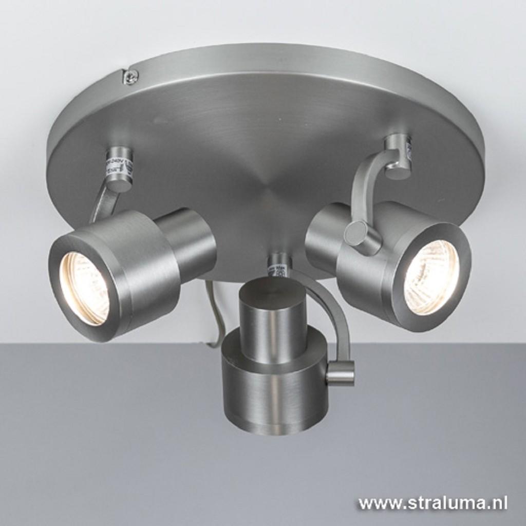 Verstelbare stalen opbouwspot 3-lichts