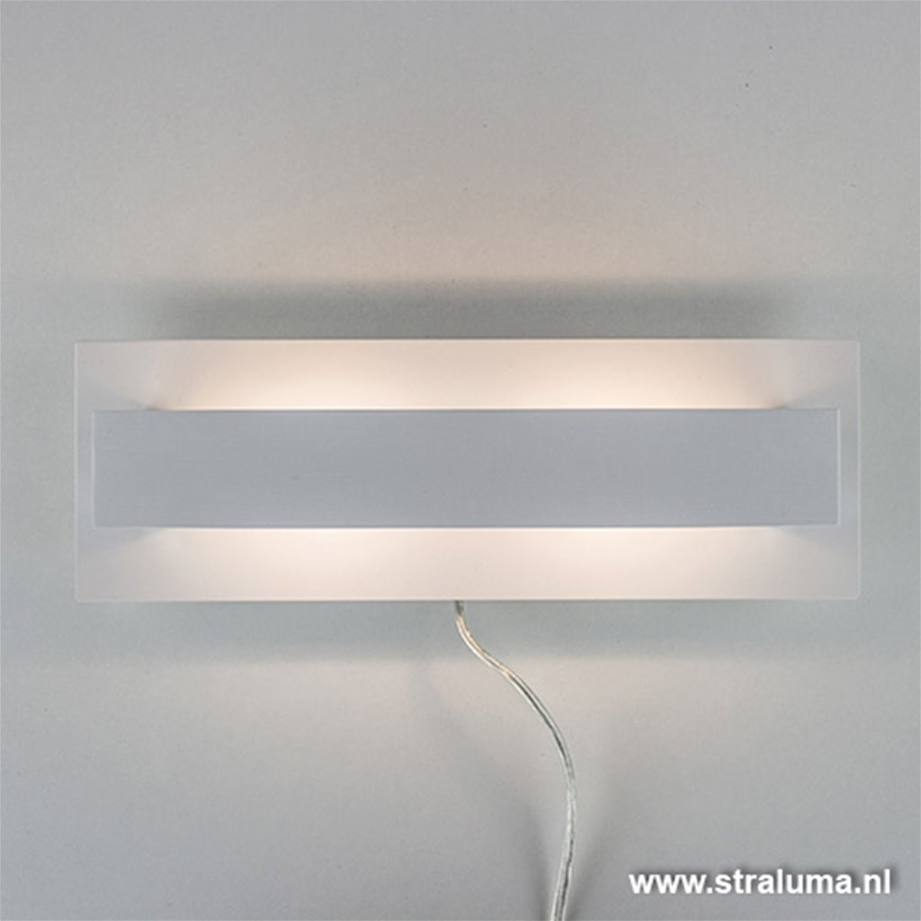 Design wandl. wit  up-downlighter LED