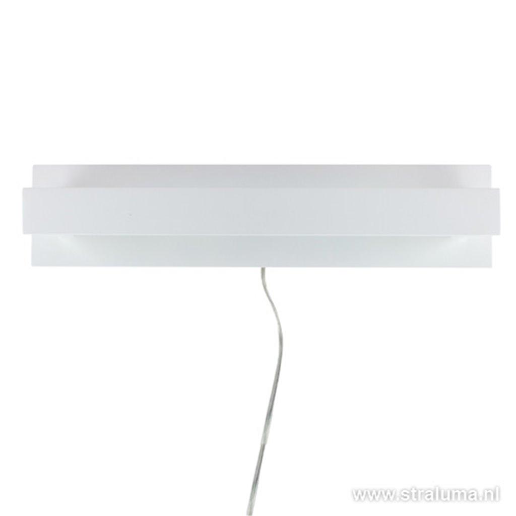 *LED wandlamp design wit met schakelaar