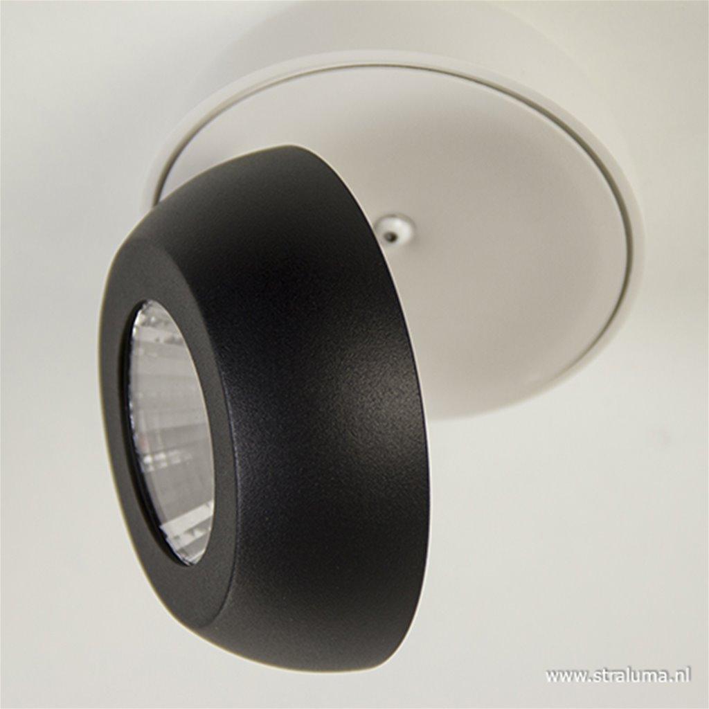 Moderne LED spot zwart-wit verstelbaar