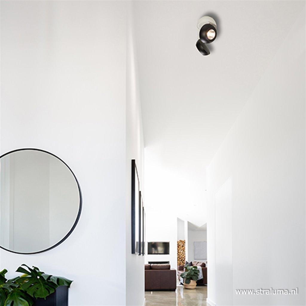 2-lichts LED spot wit-zwart