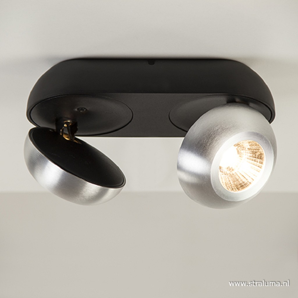 Aluminium-zwarte LED plafondspot