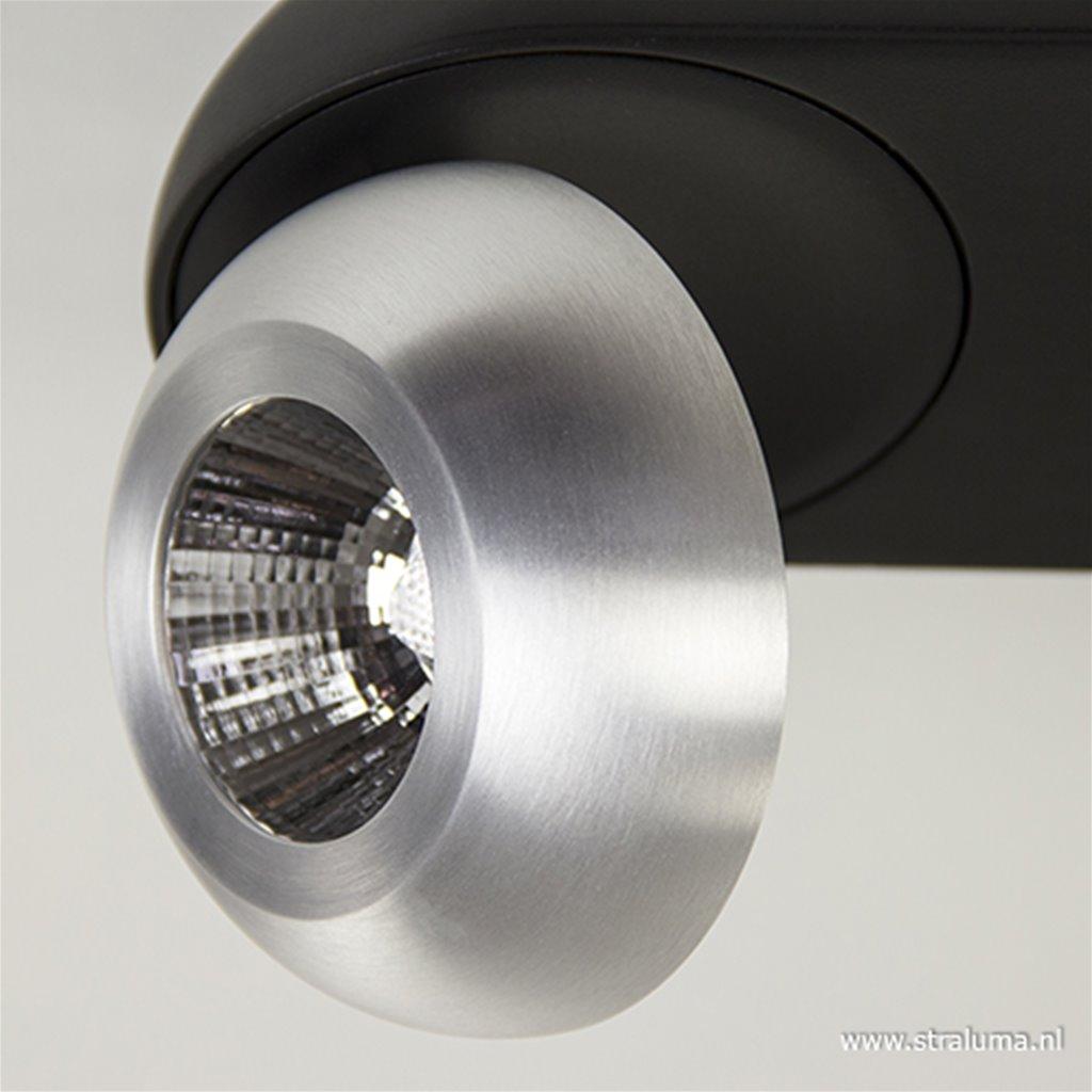 LED plafondspot 3-lichts aluminium-zw