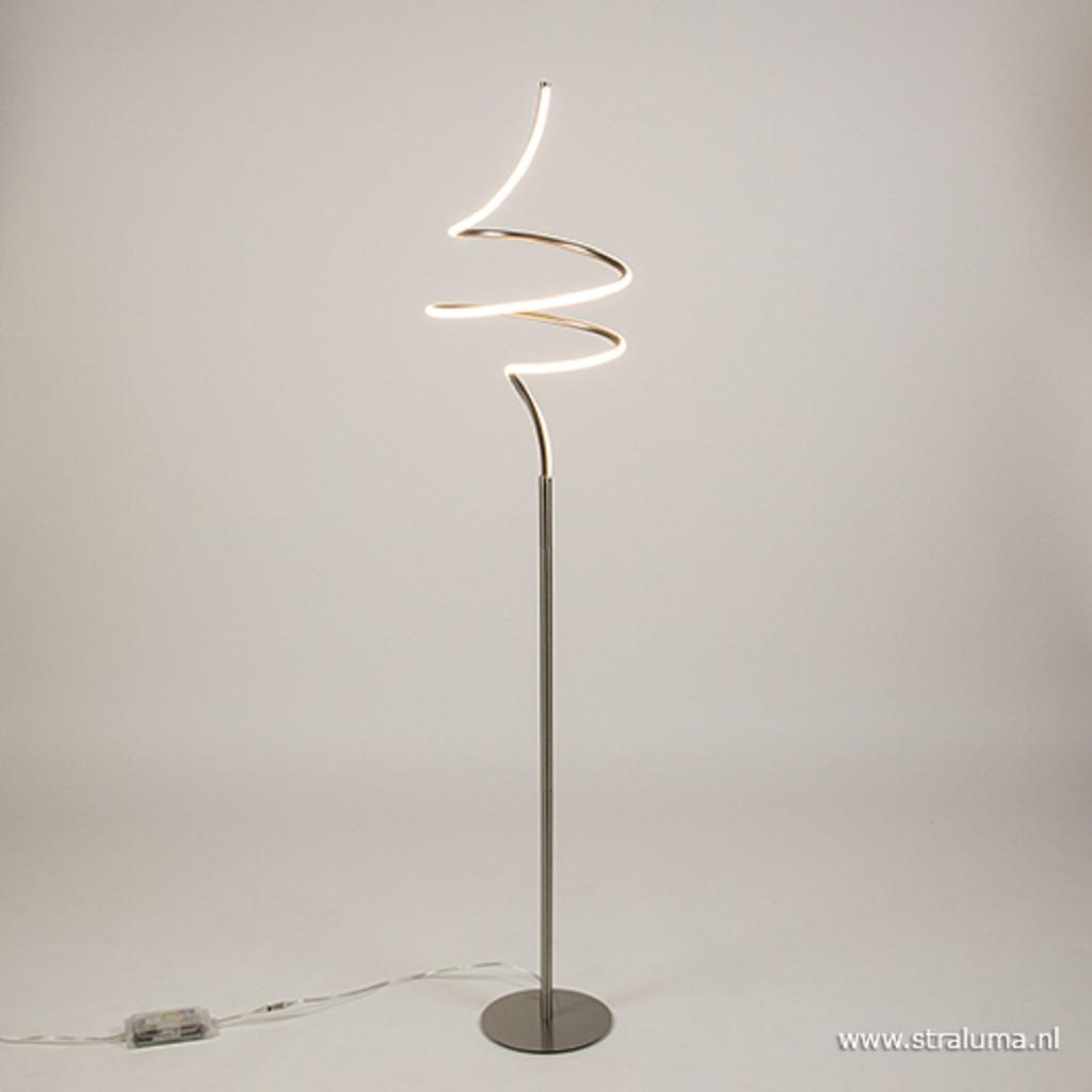 Moderne LED vloerlamp krul staal