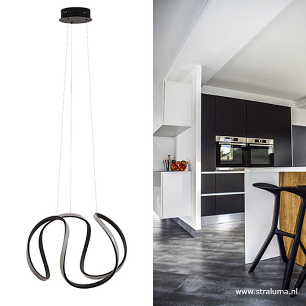 Moderne design hanglamp LED zwart