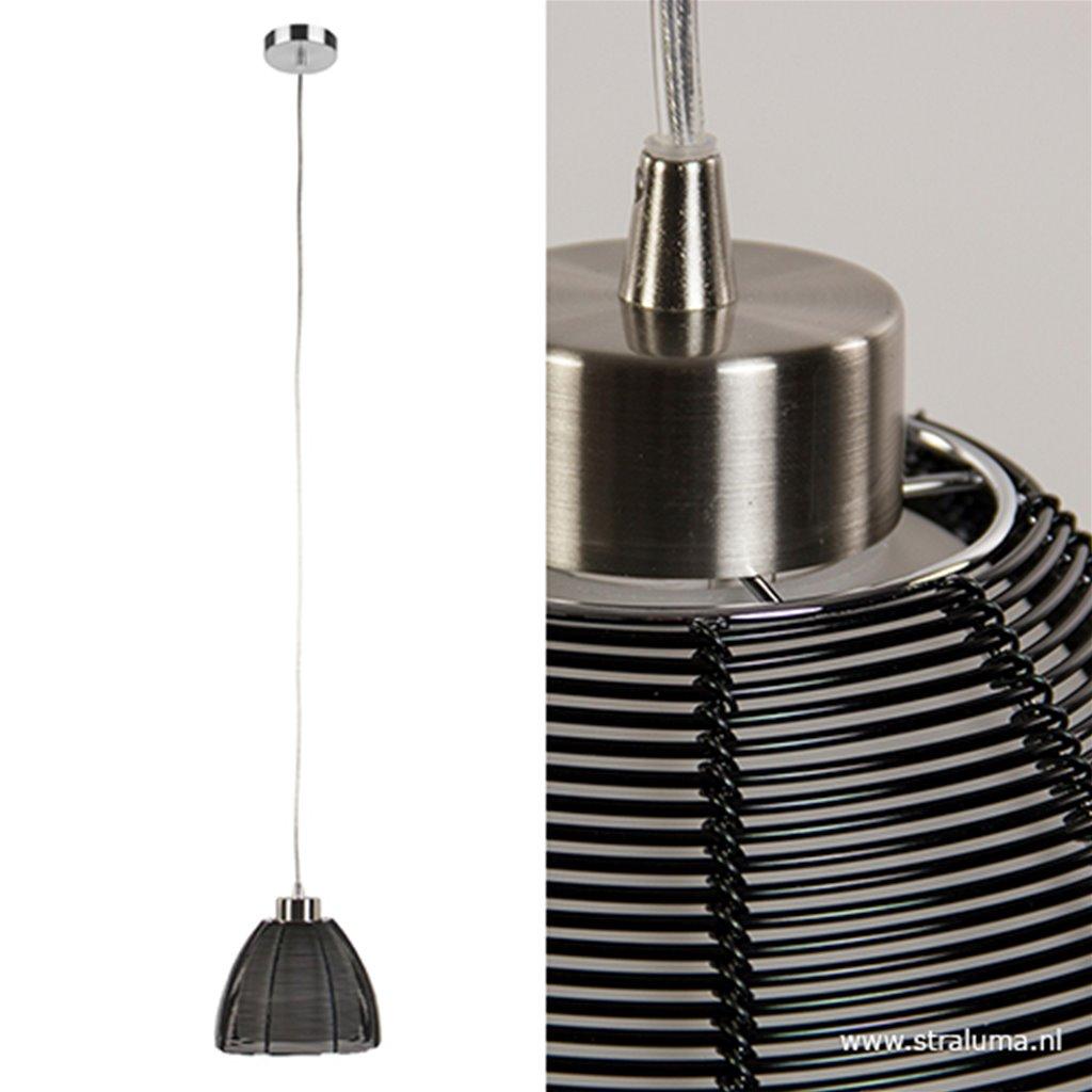 Moderne hanglamp zwart klein
