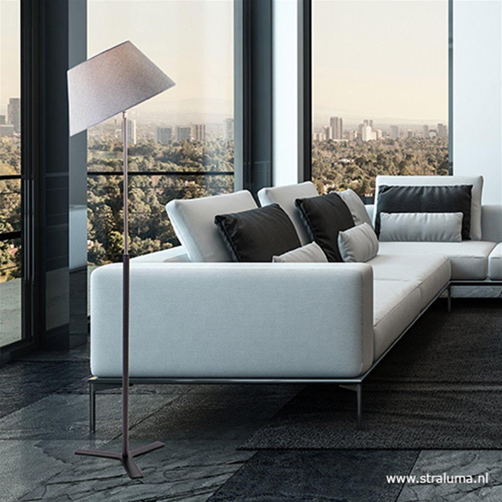 Moderne vloerlamp incl. kantelbare kap