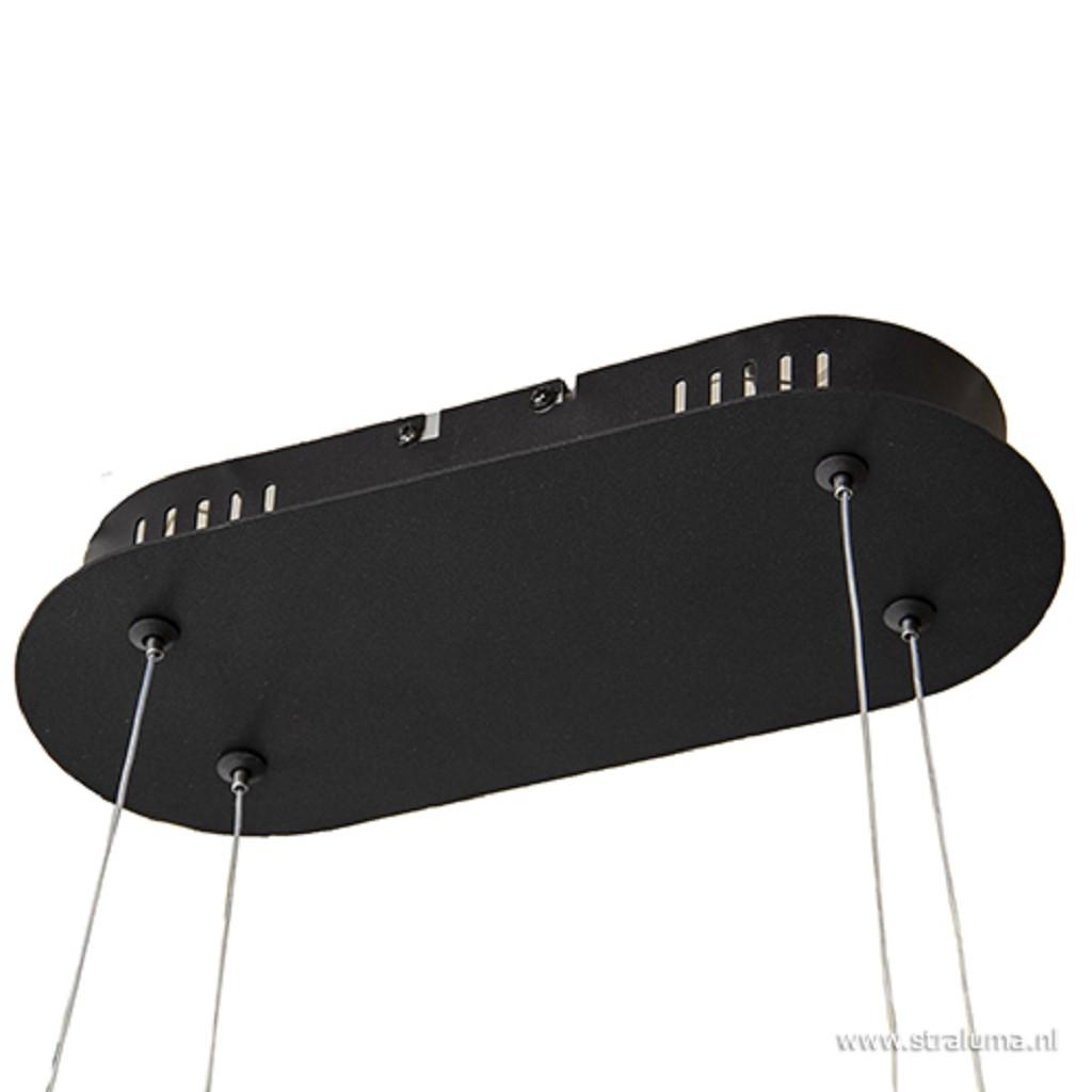 **Moderne eettafelhanglamp LED zwart