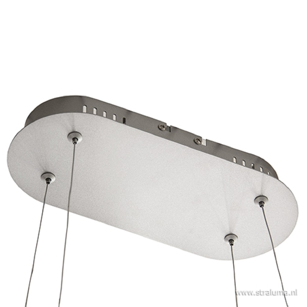 Zilvergrijze eettafelhanglamp LED mod