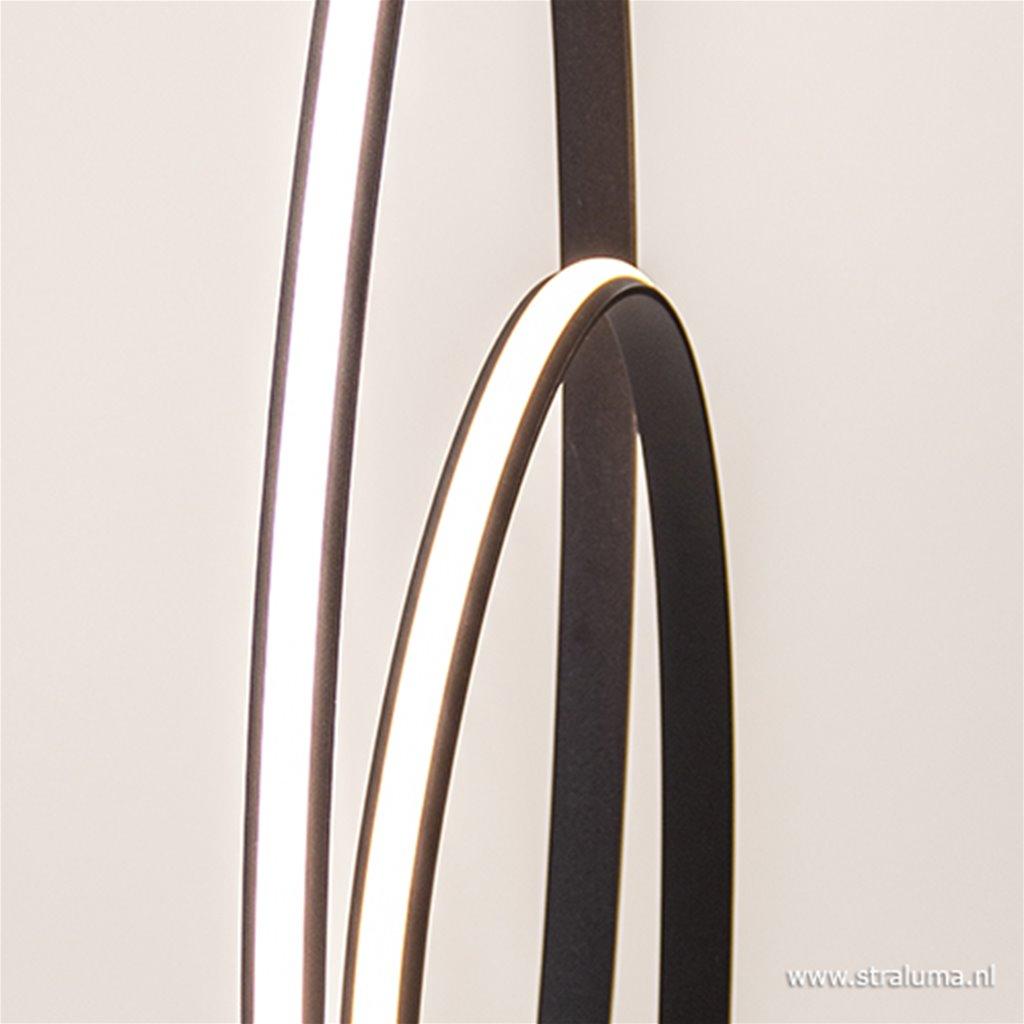 Design vloerlamp dimbaar LED zwart