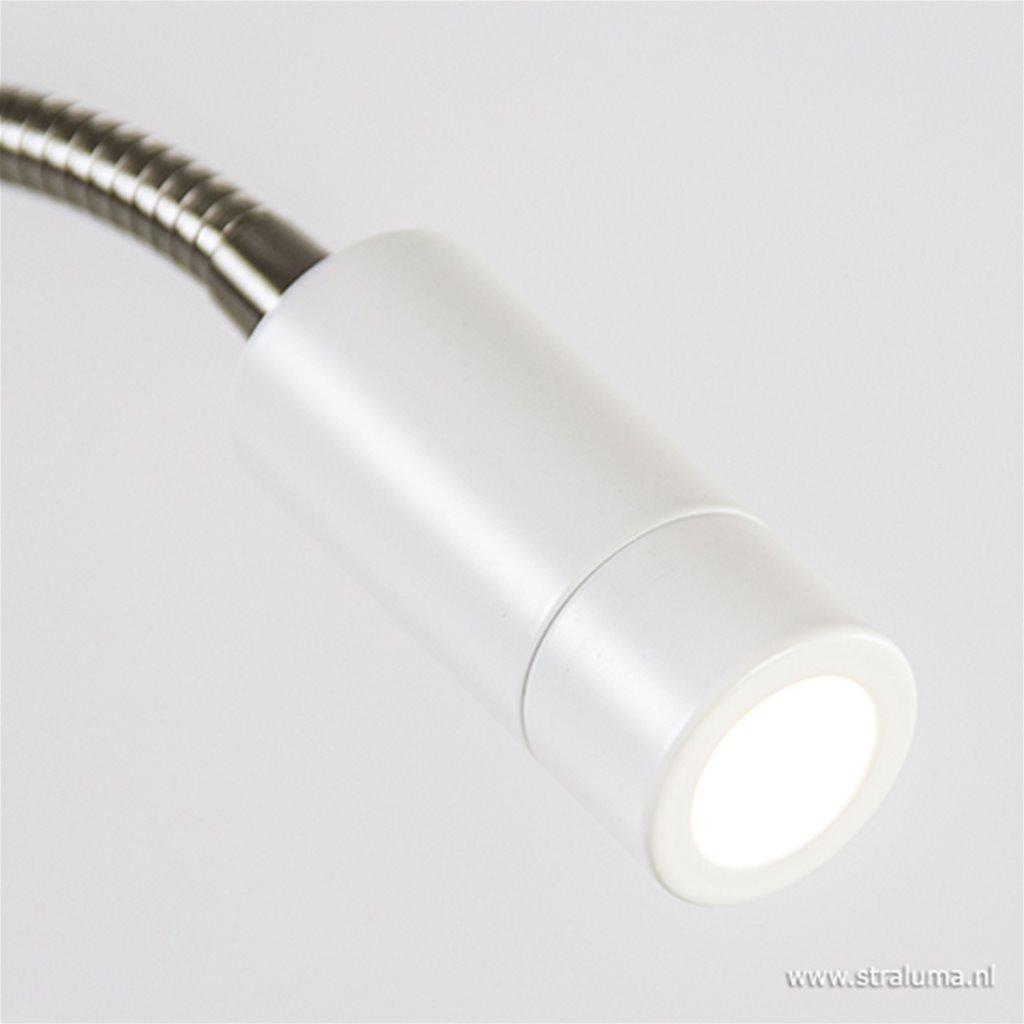 Flexibele wandlamp wit led met dimmer