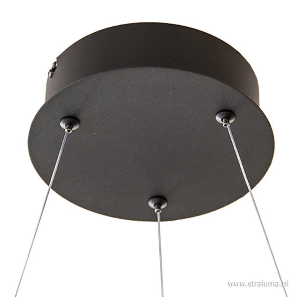 Moderne design hanglamp XL LED zwart