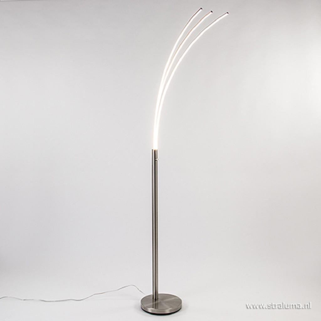 Staal boog vloerlamp LED dimbaar