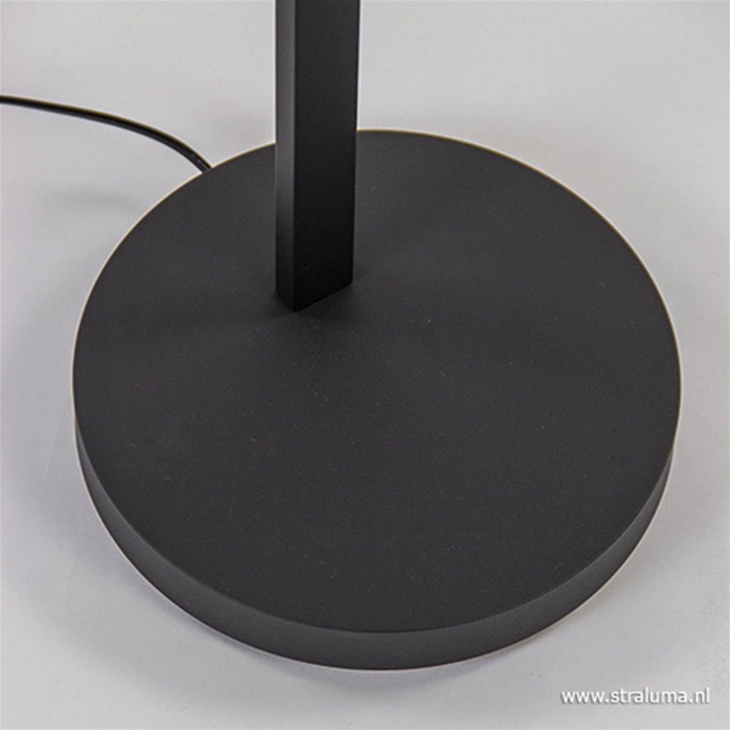 Vloerlamp boog zwart met dimmer