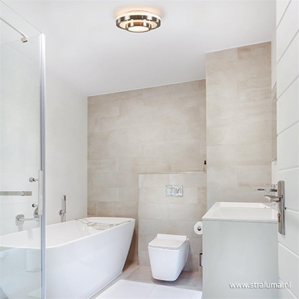 Moderne plafonnière badkamer IP44 nikkel