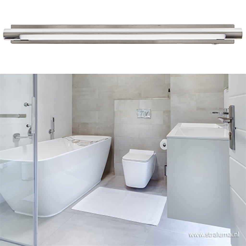 **Dimbare wandlamp badkamer chroom IP44