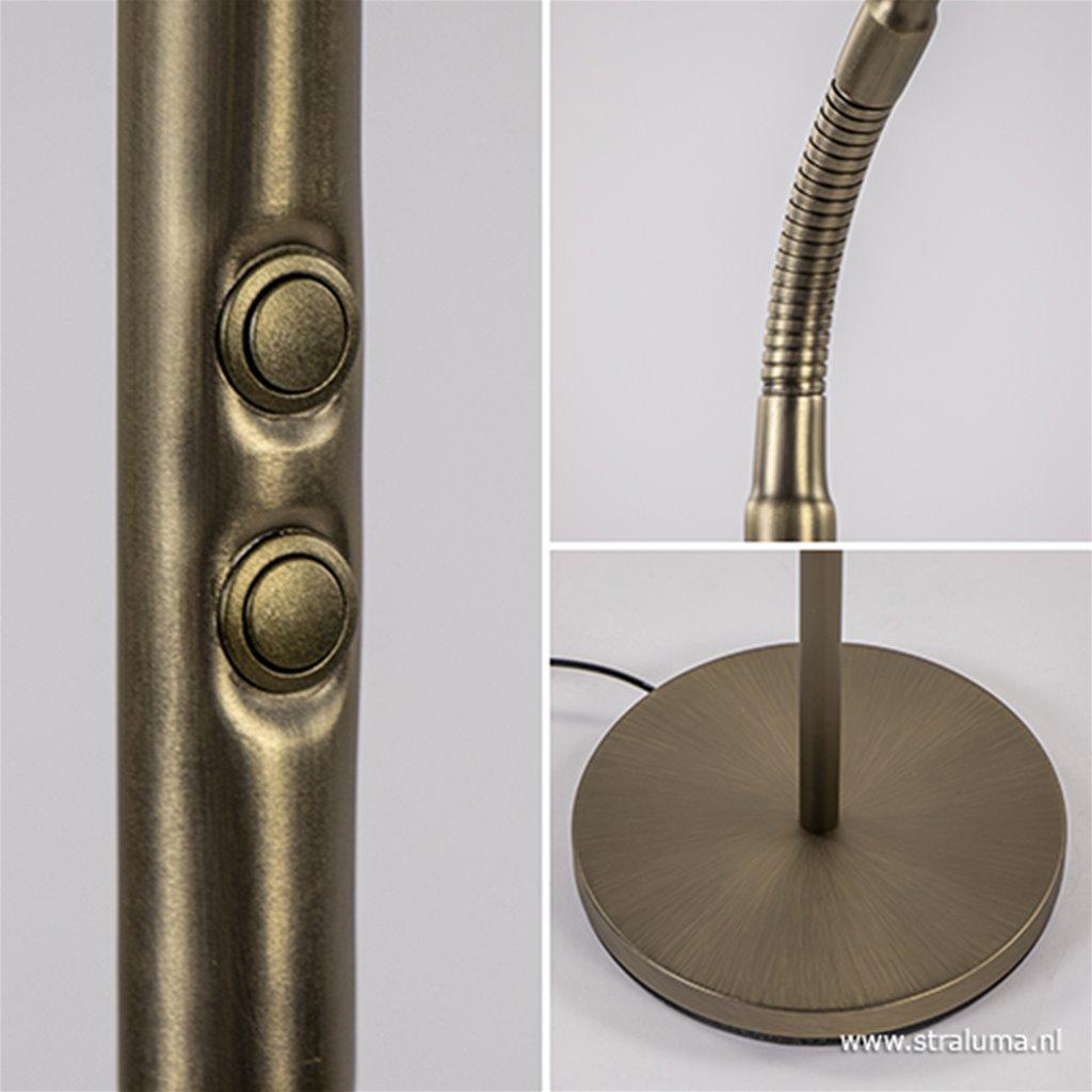 Strak klassieke leeslamp brons dimbaar