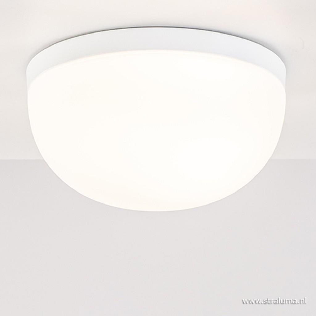 Ronde badkamer plafondlamp wit IP44