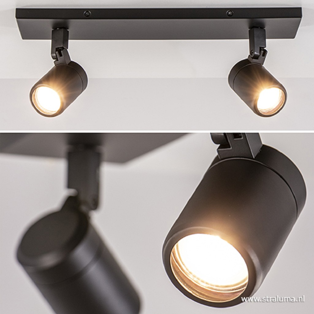 Moderne badkamer plafondlamp zwart