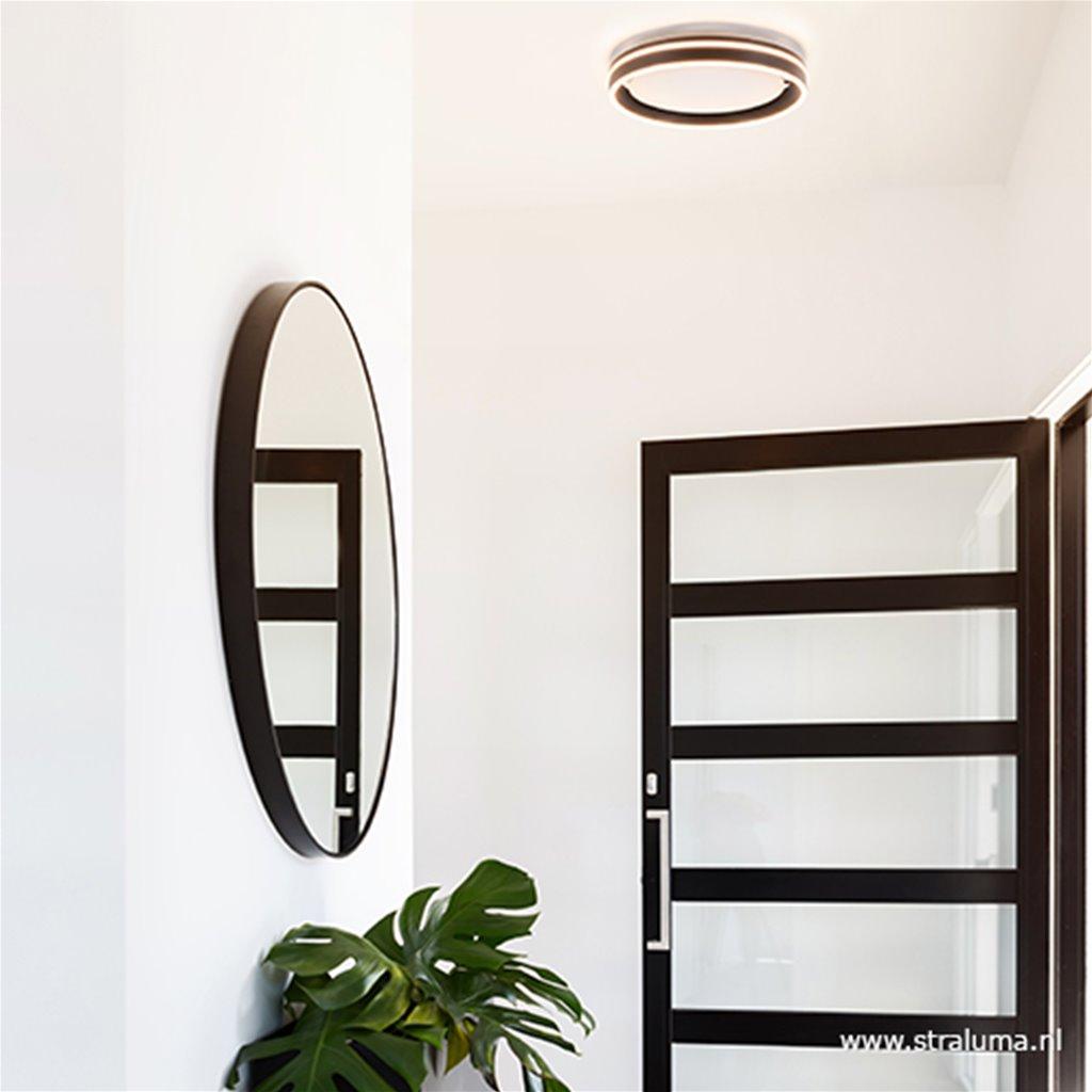 Plafondlamp led band zwart/wit