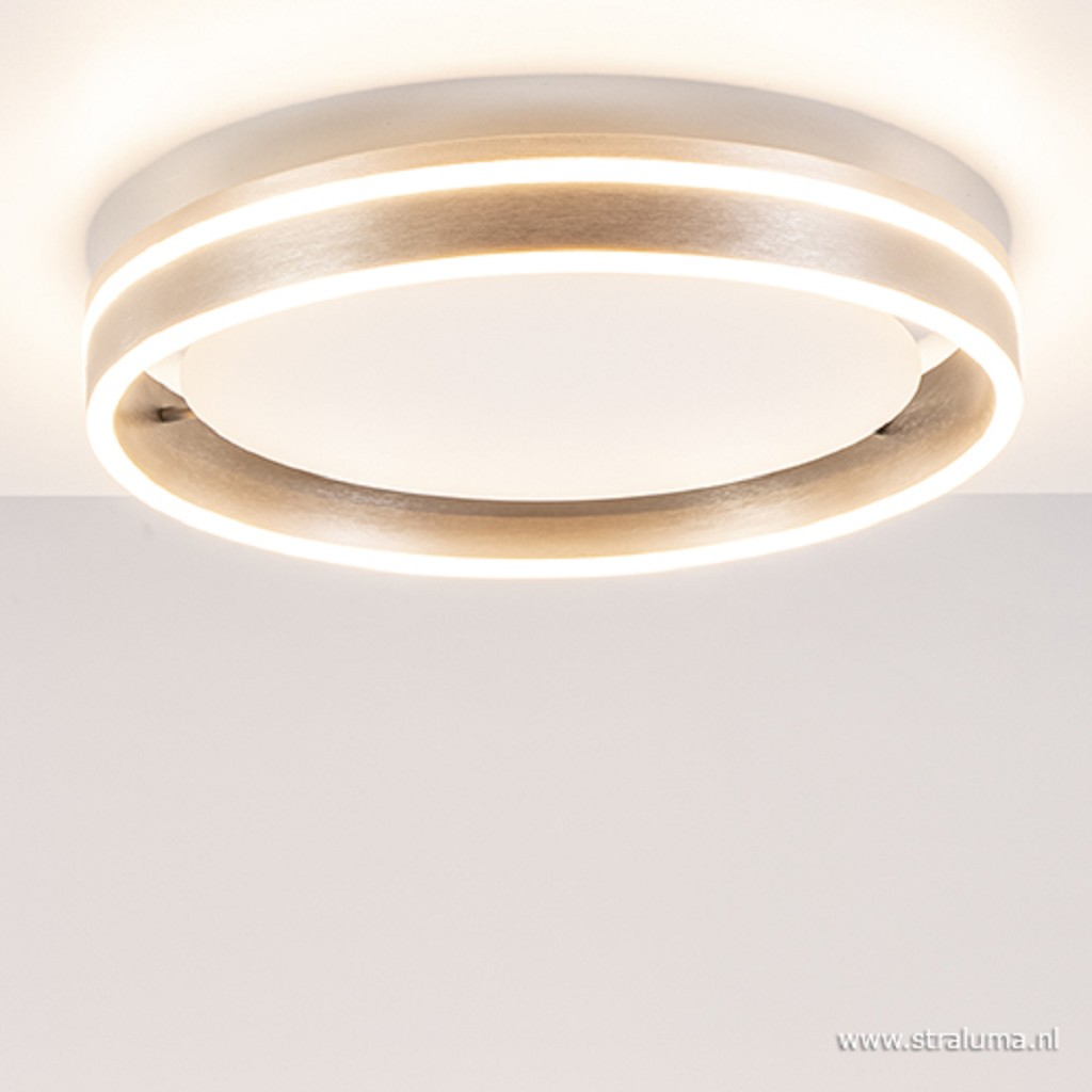 Ronde LED plafondlamp staal
