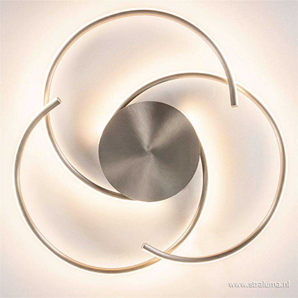 LED plafondlamp staal dimbaar 3 standen
